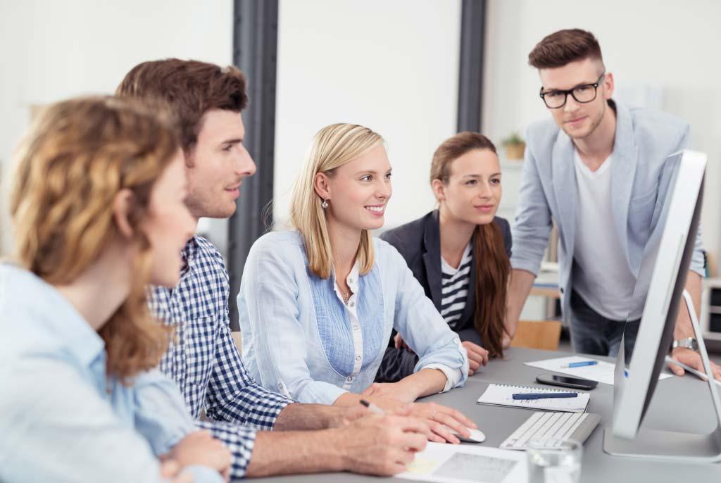 Team of people meeting